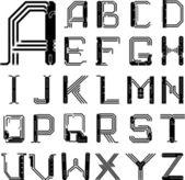 Pcb フォント — ストックベクタ