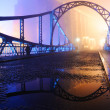 Bridge at night after the storm - Stock Photo