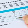 Stock Photo: Customer Service Survey