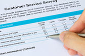 Customer Service Survey — Stock Photo