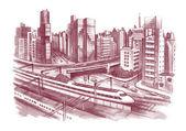 City scape — Stock Photo