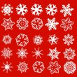 Vector de stock : Snowflakes pack 1