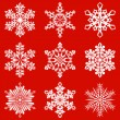 Vector de stock : Snowflakes pack 2