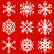 Vector de stock : Snowflakes pack 3