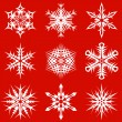 Vector de stock : Snowflakes pack 4