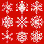 Fiocchi di neve pacchetto 3 — Vettoriale Stock
