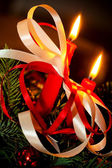Christmas candles — Foto Stock