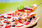 Slice of pizza — Stock Photo