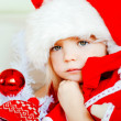 The Christmas girl — Stock Photo