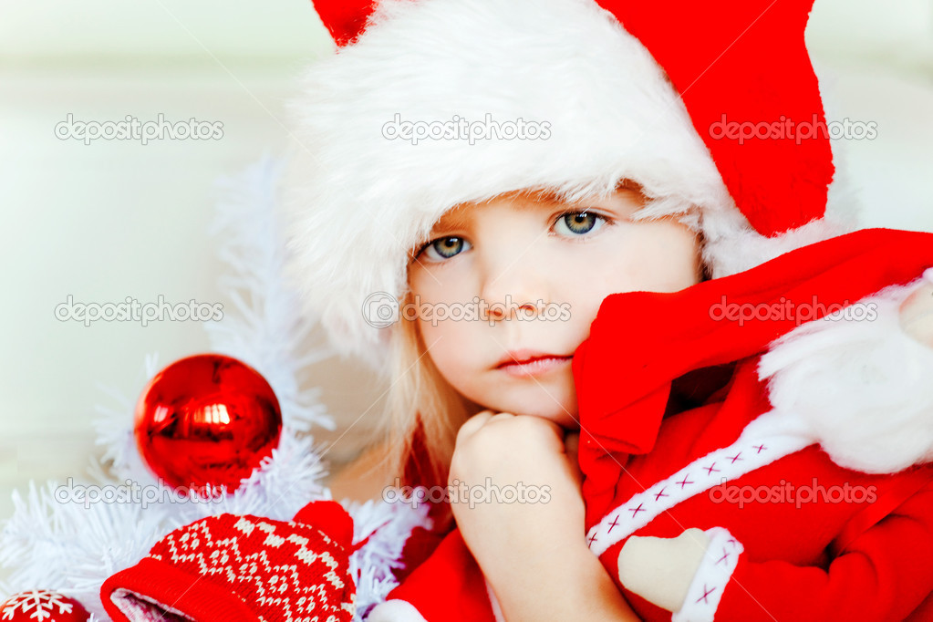 The Christmas girl — Stock Photo #7955846