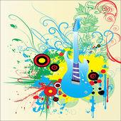 音楽の抽象的なベクトルの背景 — ストックベクタ