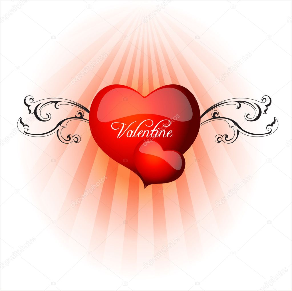 Vector Valentine Heart — Stock Vector #7620755