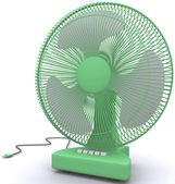 Beyaz zemin üzerinde masaüstü fan — Stok fotoğraf