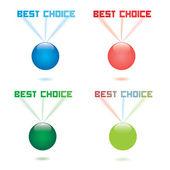 Nejlepší volbou předpokládané vektorové popisek — Stock vektor