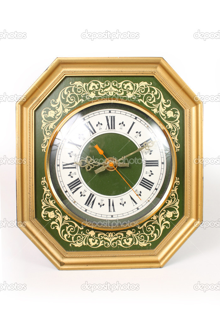The old wall clock — Stock Photo #7641939