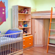 Colourful Room for Small Boy — Stock Photo