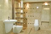 Minimalism bathroom decoration — Stock Photo