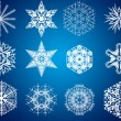 Decorative snowflakes — Stock Photo