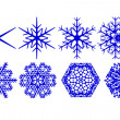 Decorative snowflakes — Stockfoto