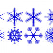 Stock Photo: Decorative snowflakes