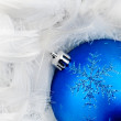 Royalty-Free Stock Photo: Blue Christmas bauble