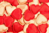 Red and gold hearts — Stock Photo