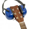 Ear protection on guitar — Stock Photo