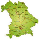 Bayern mit autobahnen bunt — Vecteur