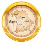 Kompass als bayern en or — Vecteur