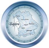 Bayern als kompass dans blau — Vecteur