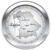 Kompass als bayern en chrom — Vecteur