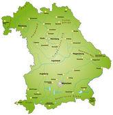 Bayern in grün — Vecteur