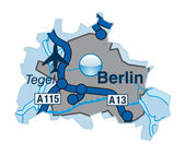 Autobahnen mit berlín — Vector de stock