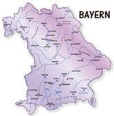 Bayern en flieder — Vecteur
