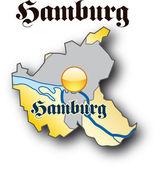Hamburg in gold — Vetor de Stock