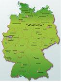 Deutschland in grün — Stockvektor