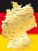 Deutschland in schwarz-rot-gold — Stok Vektör