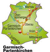 Garmisch-Partenkirchen Inselkarte bunt — Stock Vector