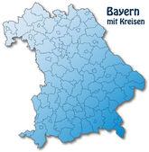 Bayern mit Kreisen — Vector de stock