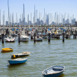 Stock Photo: Boats in Bay