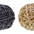 Woven Wicker Balls — Stock Photo