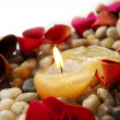 Candle and Petals — Stock Photo #7693212