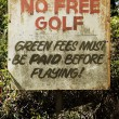 No free golf sign — Stock Photo