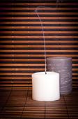 Candles and Bamboo — Stock Photo
