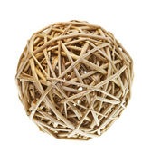 Woven Wicker Balls — Stock Photo