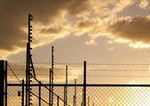 Zonsondergang hek — Stockfoto