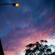 lampione tramonto — Foto Stock