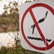 Stock Photo: No Swimming