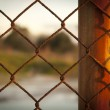 Rusted Fence — Stock Photo