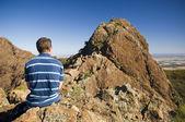 Hiker on Ridge — Stock Photo